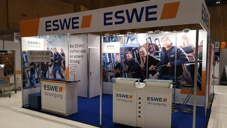 ESWE exhibition stand at Education Fair in Wiesbaden
